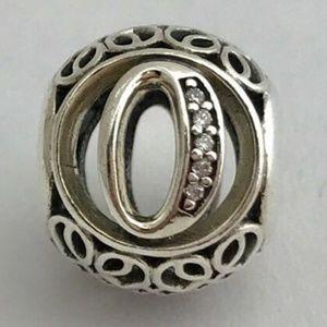 PANDORA Vintage O Sterling Silver Letter Charm